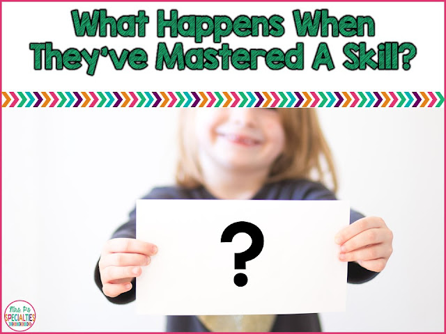 As special education teachers, we need to have a plan for what happens after our skills have reached mastery levels. We need to have a plan for helping students keep their skills while learning new things. Here is how I work review into the schedule.