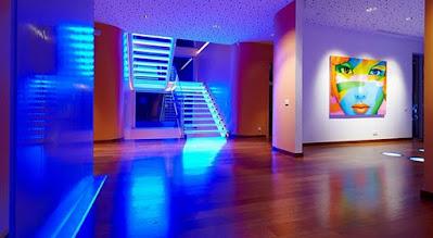 Creatividad iluminación LED hogar negocio