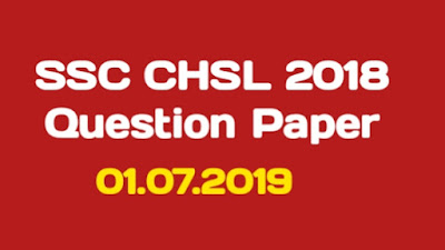SSC CHSL 2018 Question Paper PDF