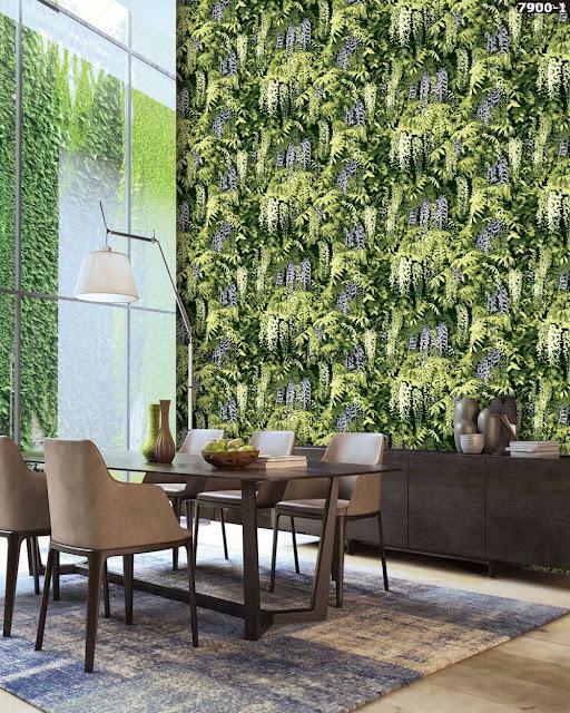 giấy dán tường 3D hình bụi cây