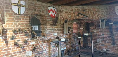 Ruiny zamek Krzyżacki w Toruniuu sala tortur