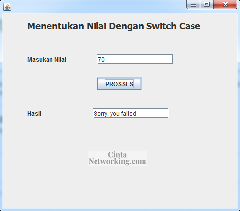 Cara Membuat Program Java Dengan Switch Case di NetBeans - Cintanetworking.com