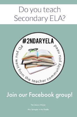 Join the #2ndaryELA Facebook group which gives you the resources you want from the teacher community you need!