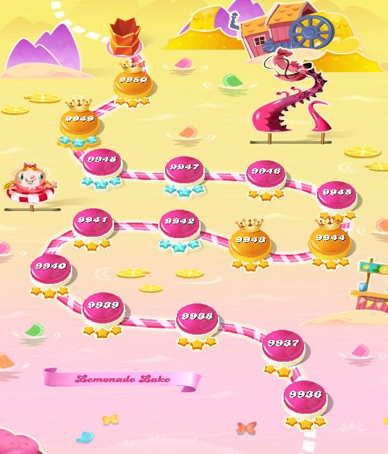 Candy Crush Saga level 9936-9950