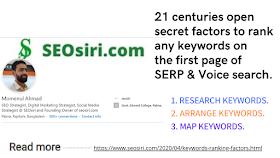 keywords ranking factors