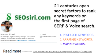 keywords ranking factors