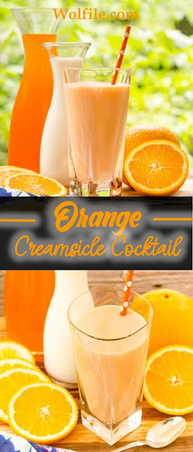 Orange Creamsicle Cocktail Recipe #Drink #Cocktail
