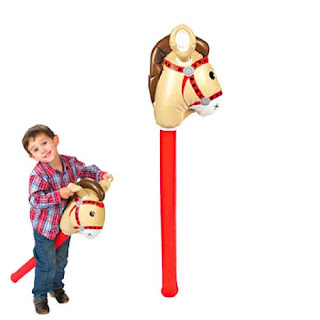 Sheriff Callie party games-stick horse races