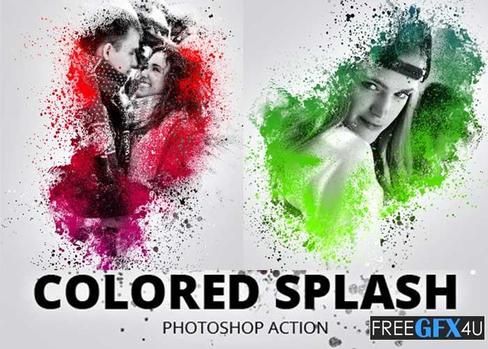 Colored Splash Photoshop Action