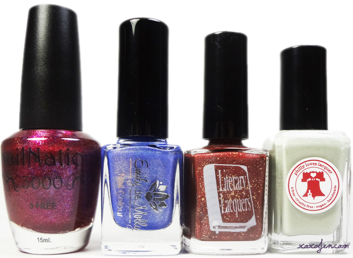 xoxoJen's shot of the April Holo Grail polishes from Dazzled