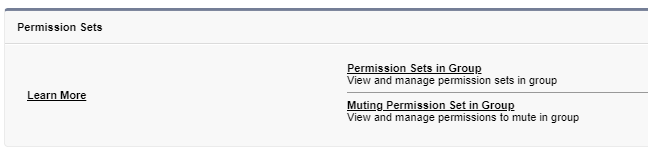 Muting Permission Set in Group
