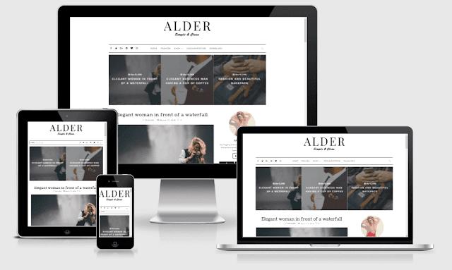 Alder - Responsive Clean & Simple Premium Blogger Template
