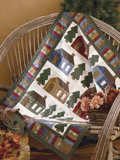 Evergreen Lane Quilt designed by Julie Weaver for Free-Quilting