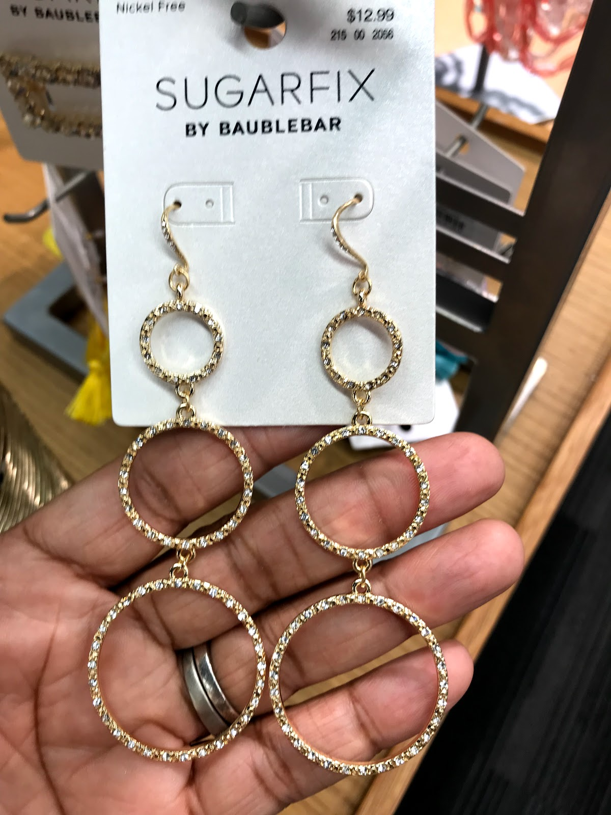Image: Earrings from Target. Seen first on Bits and Babbles blog. Out of everything I bought these are my favorite ones, the three-ring circles. I may be wearing these all year long as well.