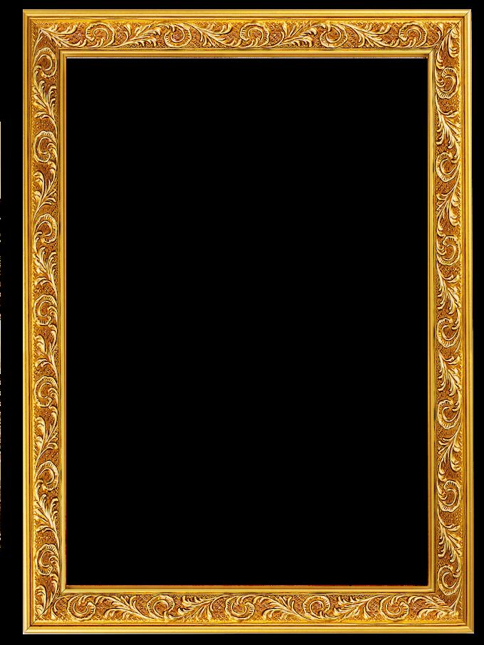 frame, Glyph golden border, gold embossed frame, border, frame free png file