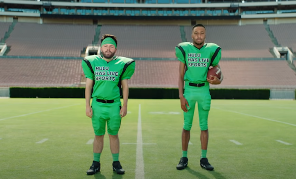 Saquon Barkley and Baker Mayfield star in deepfake Hulu ad