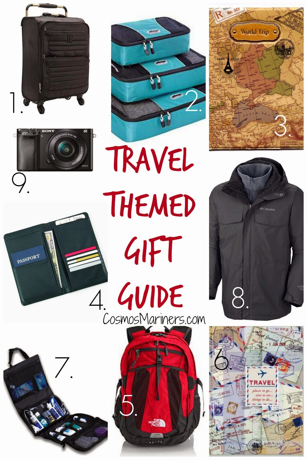 Travel Themed Gift Guide: Christmas Ideas for Your Favorite Traveler | CosmosMariners.com