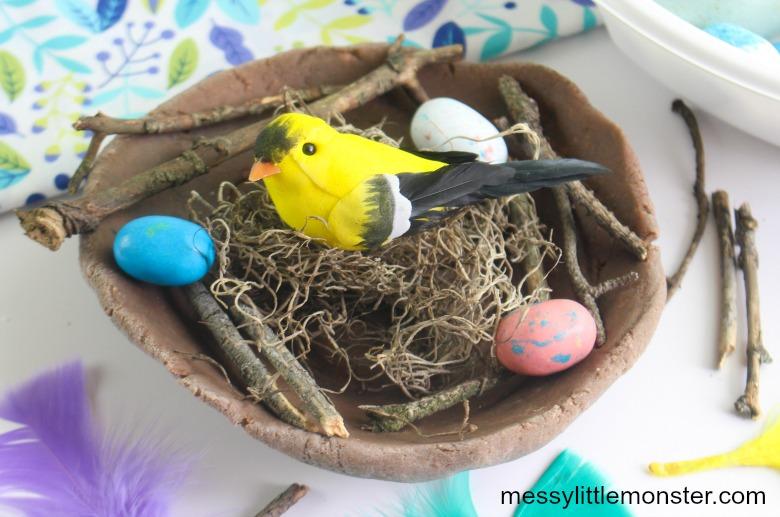 build a bird nest craft for kids