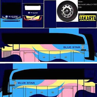 Download Livery Bus Blue Star