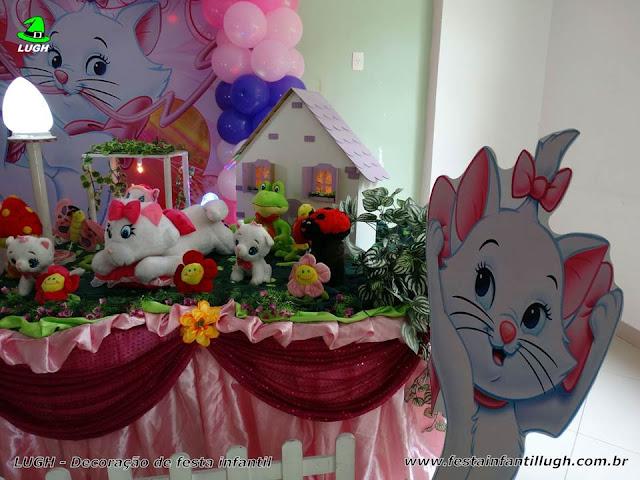 Tema Gata Marie para festa de aniversário infantil
