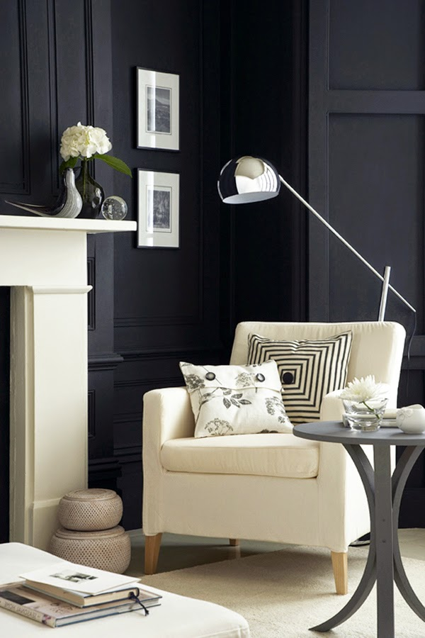 CAD INTERIORS design tips black paint moldings walls rooms