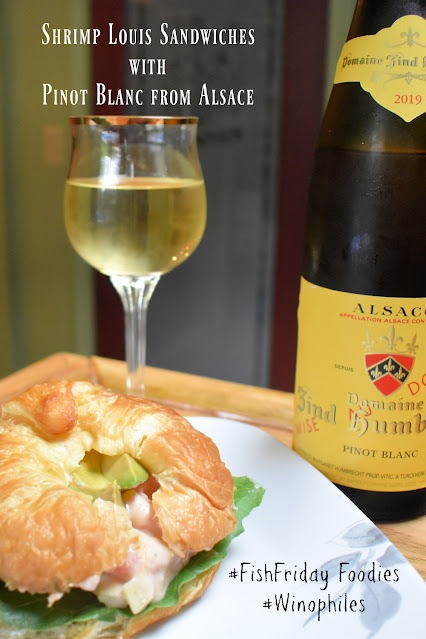 Shrimp Louis Sandwiches and Alsace Wine pin