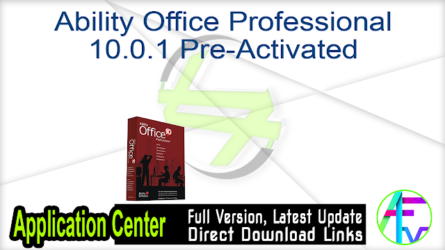 Ability Office Professional 10.0.1 Pre-Activated