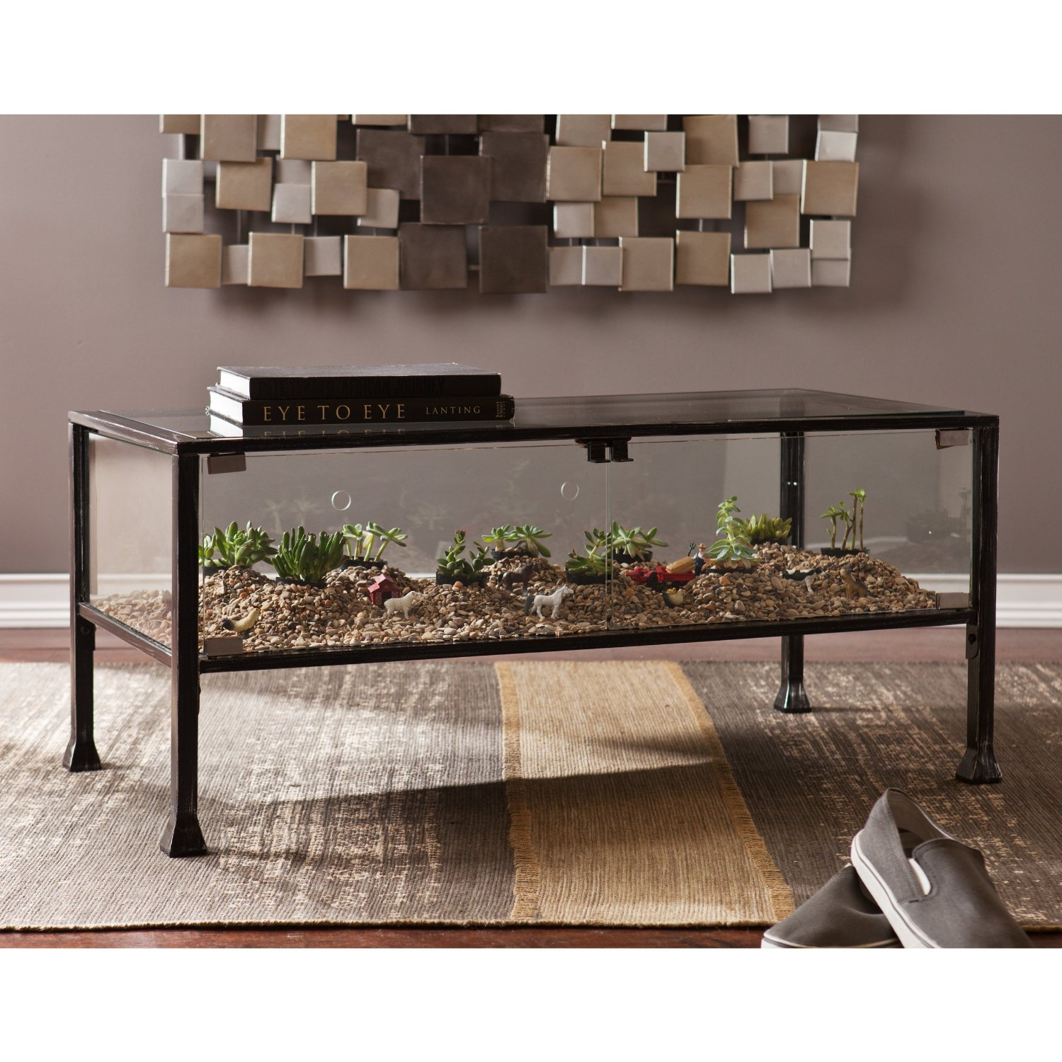Brass Display Coffee Table: Glass Top Display Case Coffee Tables