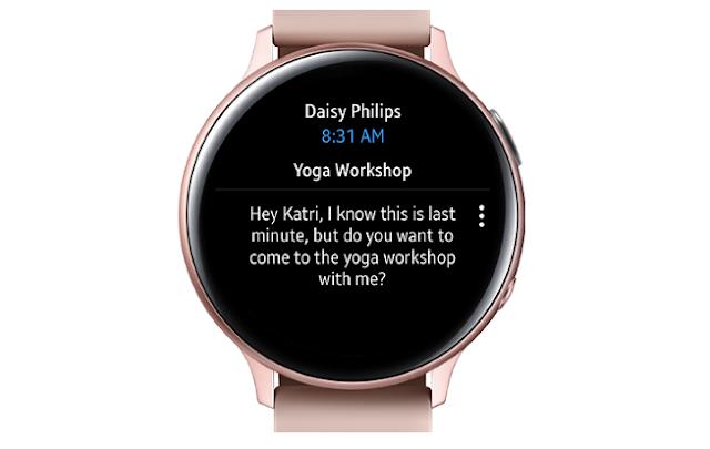 تطبيق Outlook متوفر لمستخدمي ساعة Samsung Galaxy Watch