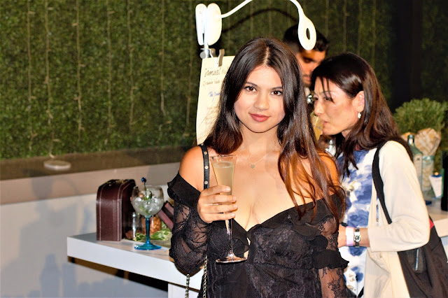 NYC Fashion blogger Kelly Fountain at Honey Birdette NYC Launch Party and Fashion Show wearing For Love and Lemons