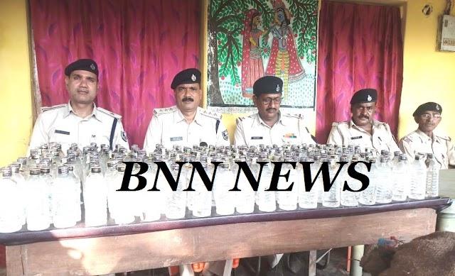 ढंगा से पुलिस ने बरामद किए 26 सौ शराब की बोतल