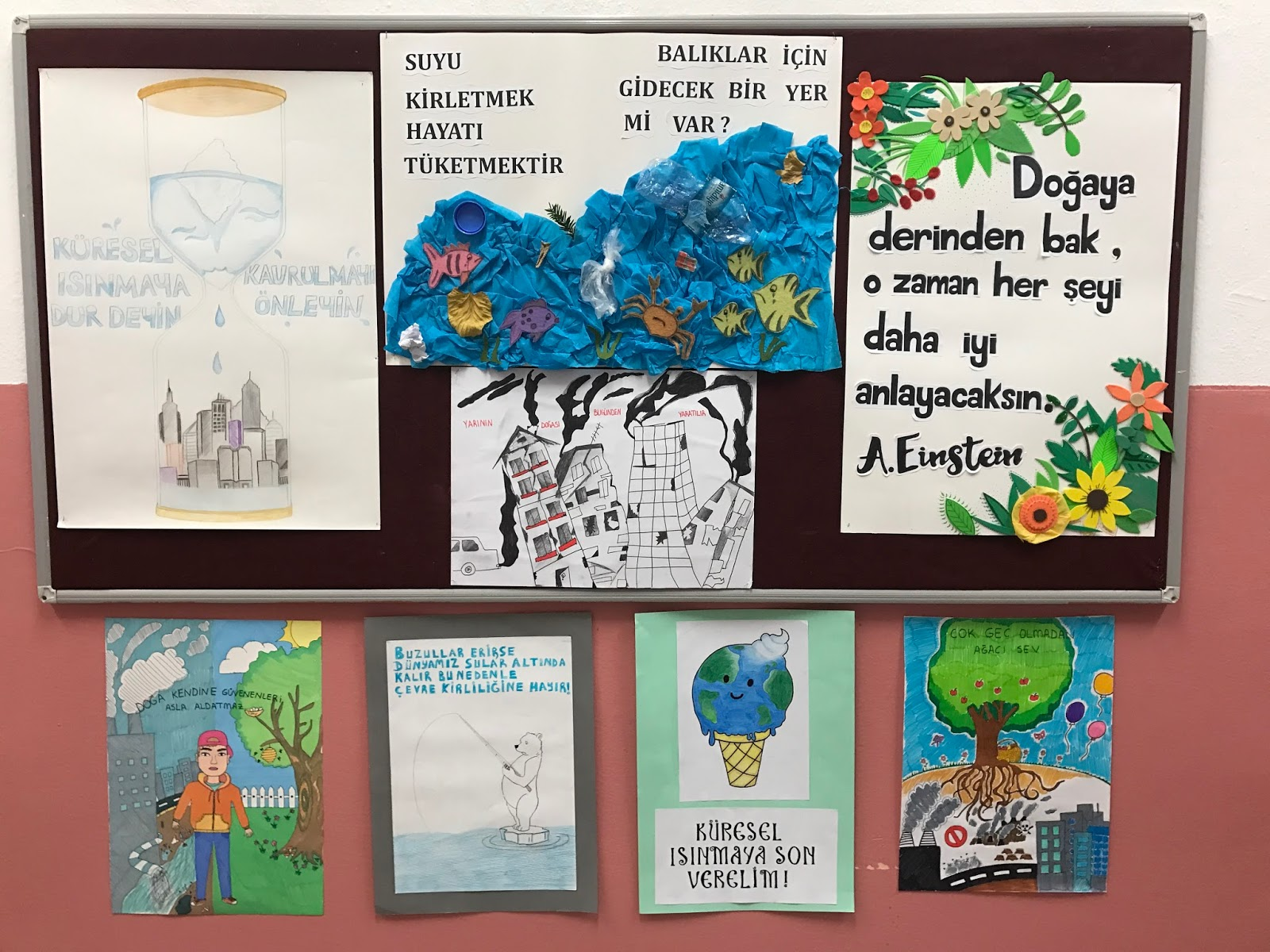Our Art Class And Students Worked On Posters Threats To Environment Create An Effect School Driving Attention For A Better