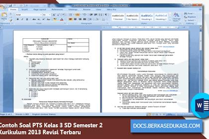 Contoh Soal PTS Kelas 3 SD Semester 2 Kurikulum 2013 Revisi 2019-2020