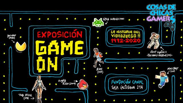 Expo Game On - Un paseo por la historial del videojuego desde 1972 hasta 2020