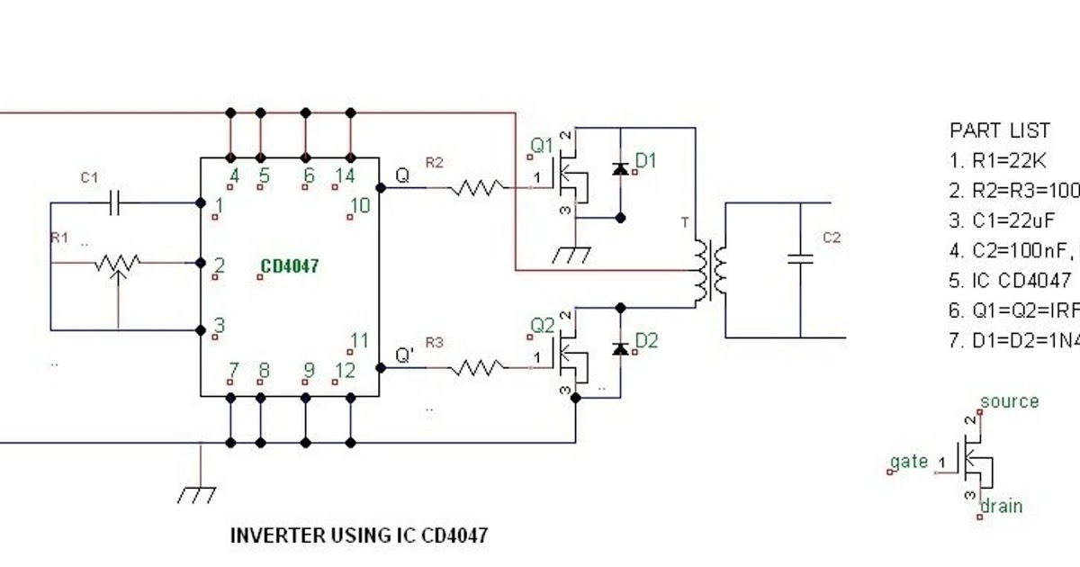 Modifying A 4047 IC Inverter Into Sine Wave Inverter