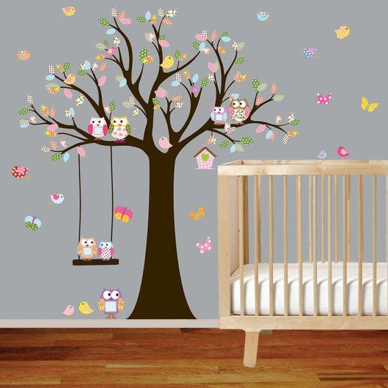 idée chambre bébé fille oiseau