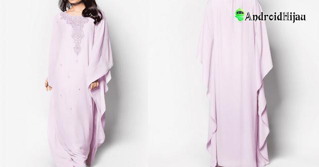 model gamis kaftan cocok dipakai sebagai busana muslim dengan perpaduan jilbab yang trendy