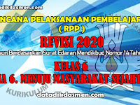RPP KELAS 6 TEMA 6 SD/MI KURIKULUM 2013 REVISI 2020