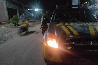Ciptakan Kamtibmas Yang Kondusif Personel Polsek Curio Perkuat Dengan Patroli Malam
