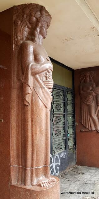 kariatyda Warszawa Warsaw architektura modernizm Mokotów lata 30 Zdzisław Maczeński Jan Wedel
