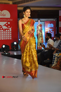 South Indian Celebrities Pos at Love For Handloom Collection Fashion Show  0102.jpg