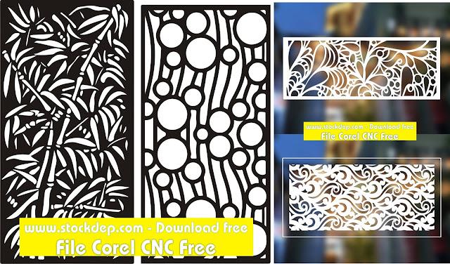 Mẫu CNC cành trúc khung hình free