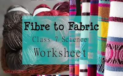 CBSE Class 7 - Science - Fibre to Fabric - Worksheet (#cbsenotes)(#eduvictors)(#NCERTClass7Science)