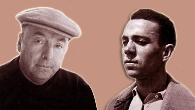 Pablo Neruda y Miguel Hernández