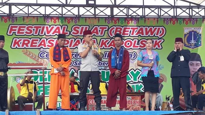 Festival Silat Betawi Kapolsek Cengkareng : Budaya Ini Harus Kita Jaga