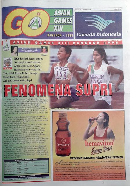 ASIAN GAMES XIII BANGKOK 1998 FENOMENA SUPRI
