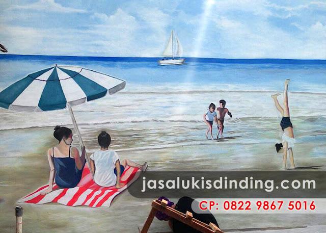 Lukisan pemandangan pantai