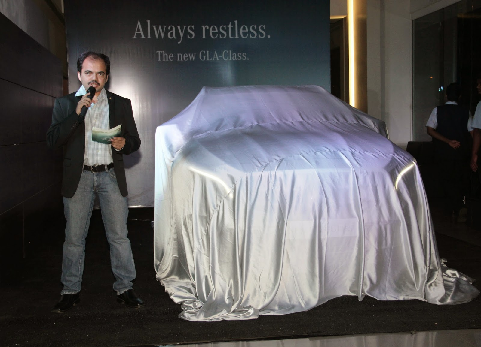 Amar Sheth,Director Group Shaman at the Mercedes-Benz GLA-Class Preview