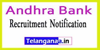 Andhra Bank Recruitment Notification 2017