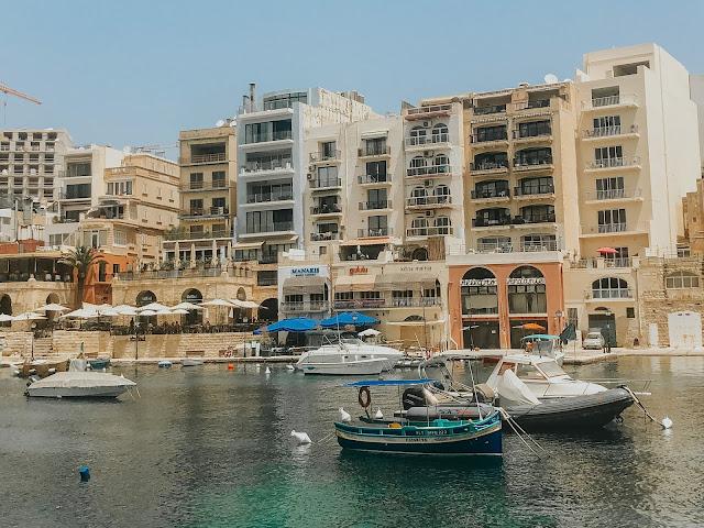 Malta holiday - st juliens bay